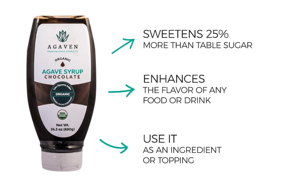 AGAVEN Agave chocolate vegan syrup necatr sweet dessert plant based