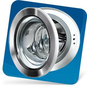 Washing machine door open for gel cushion for wheelchair