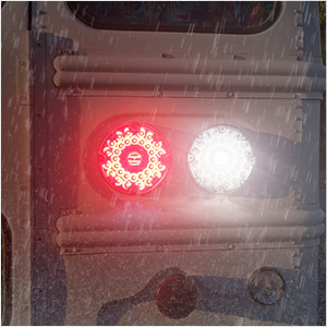 7 inch round led tail light