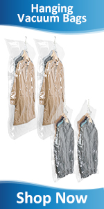 Hanging Vacuum storage bags space saver bags for coats jackets suit