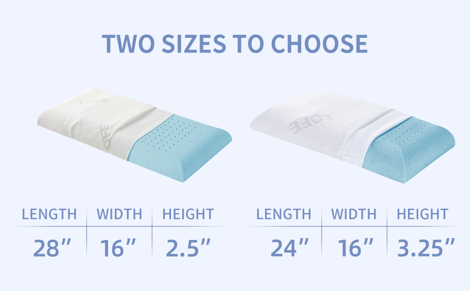 two sizes to choose