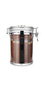 Acrylic Humidor Jar with Humidifier and Hygrometer Up to 18 Cigars Capacity