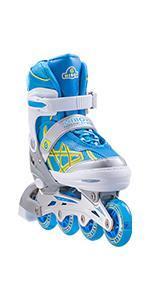blue inline skate
