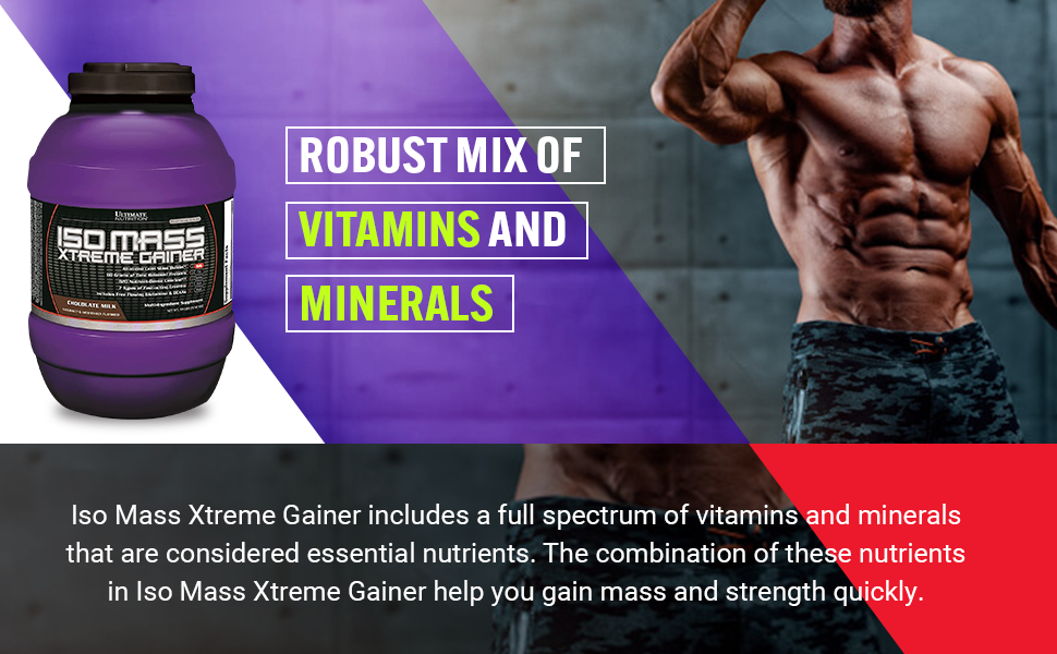 Ultimate Nutrition ISO Mass Xtreme Weight Gainer Protein Isolate Powder