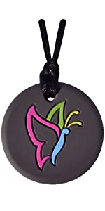 Munchables Butterfly Sensory Chew Necklace for Girls