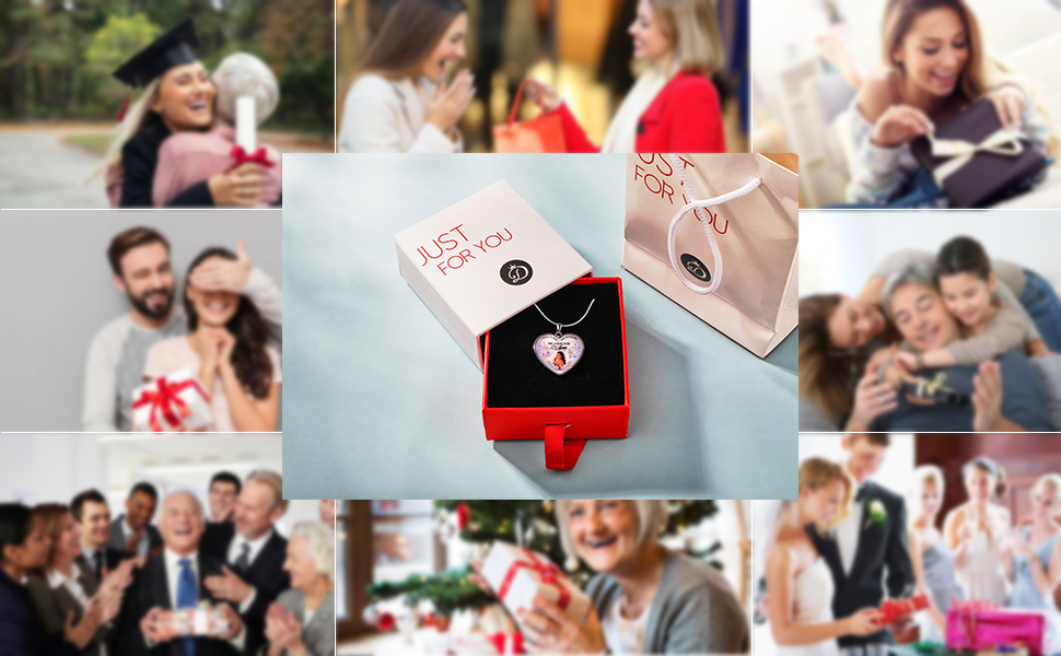 Gift with Gift box  customized picture photo necklace Pendant for gift