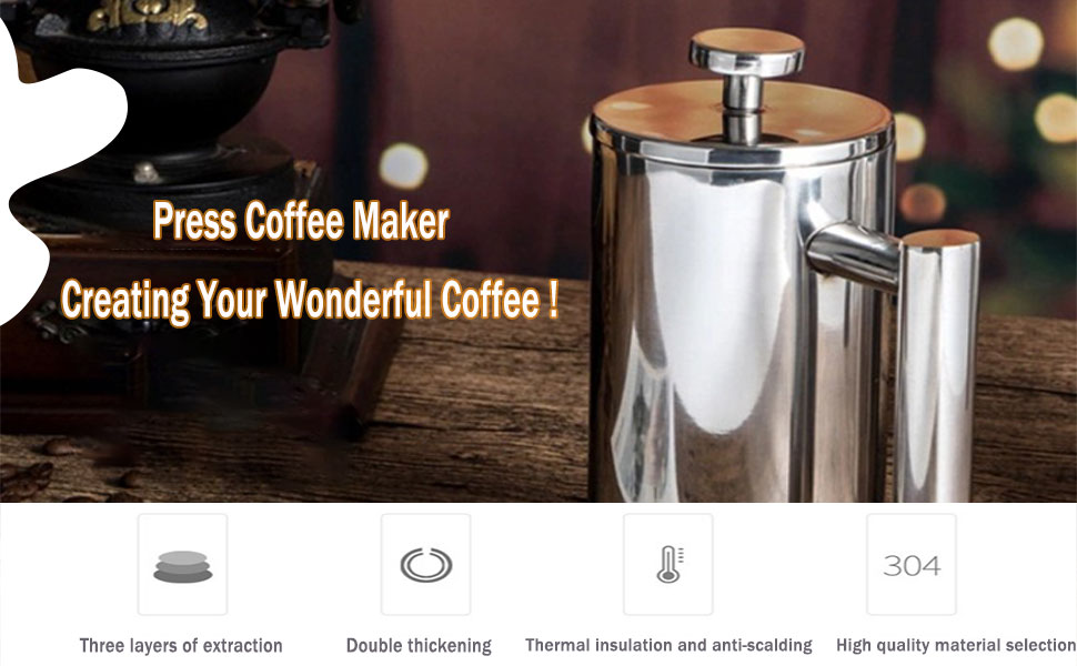 french press stainless