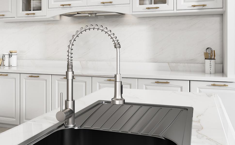 9009SN kitchen faucet  brushed nickel
