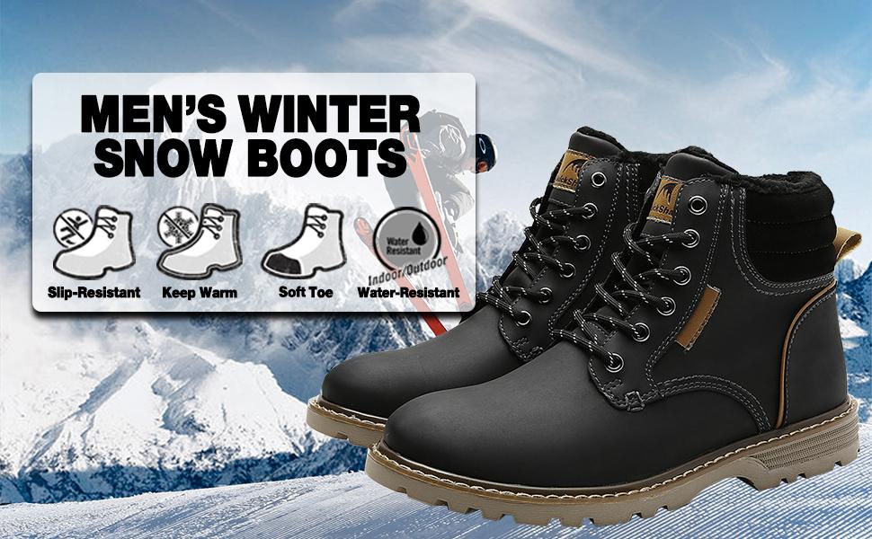 Quickshark Mens Winter Snow Boots
