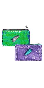 Reversible Sequin Pencil Bag