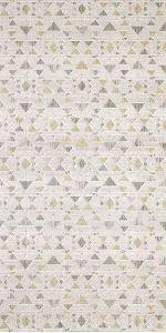 Geometric cream triangle rug
