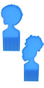 afro comb resin mold