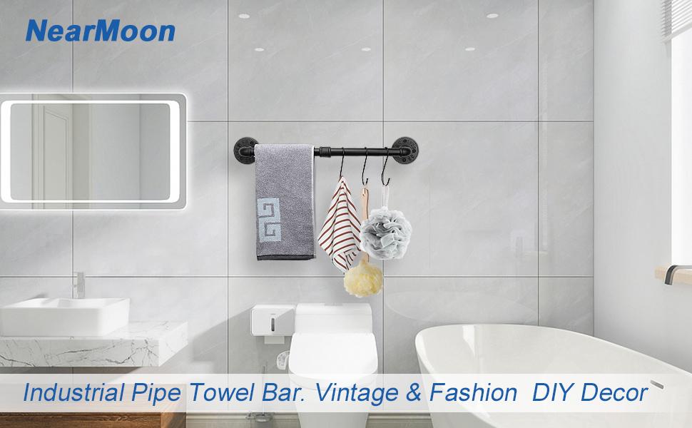 industrial pipe towel bar