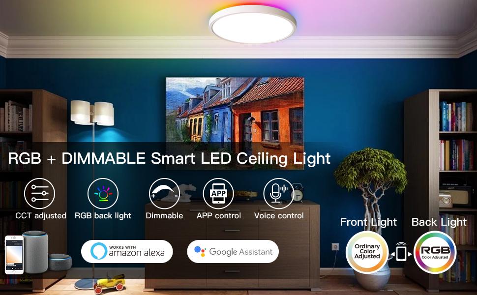 Smart led ceiling lights fixture