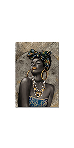 RyounoArt African Woman Canvas Painting