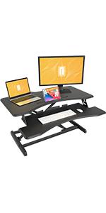 FEZIBO Standing Desk Converter Stand up Desk Riser,