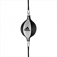ADIDAS DOUBLE END BALL BOXING MMA GYM USE WHITE BLACK BOXING EQUIPMENT