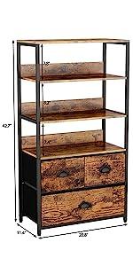3 drawer with shelf