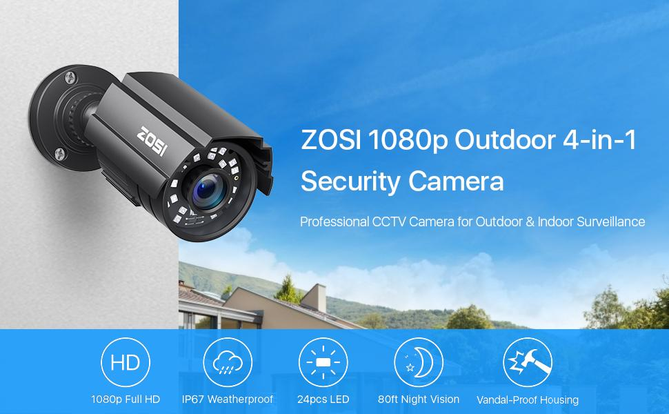 1080P 4-IN-1 Security Bullet Camera