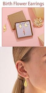 August flower earrings