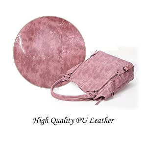 Superior Washed PU Leather Hobo Shoulder Bag