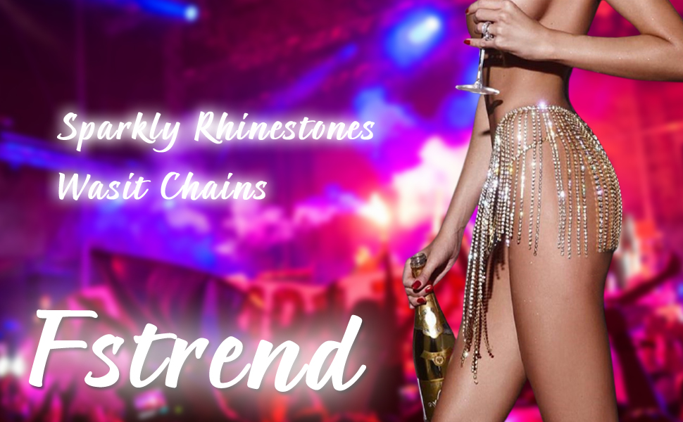 Rhinestone Choker Necklaces Sparkly Diamond Crystal Long Tassel Collar Statement