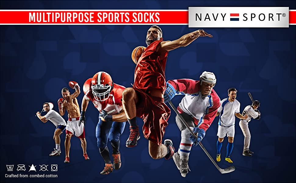 Socks for all sports activities in crew length and ankle length