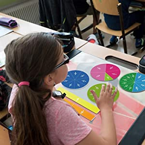 Magnetic fraction circles for students in classroom/ home school/ elementary school