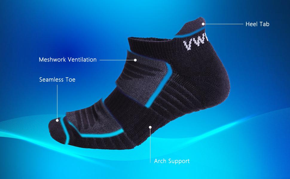 men's sport ankle socks mens moisture wicking socks running mens socks womens wicking socks
