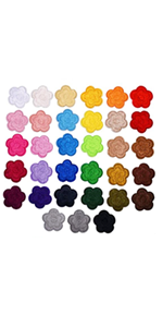 33 Pieces Mini Flower Iron on Patches