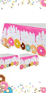 3 Pcs Donut Tablecover