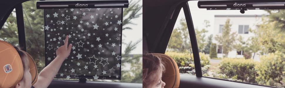 Diono Starry Night Roller Car Window Sun Shade
