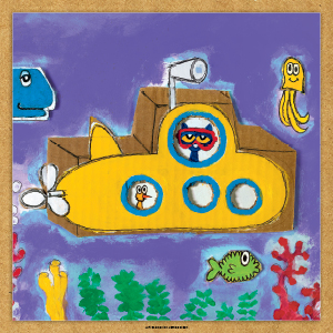 art, submarine, ocean