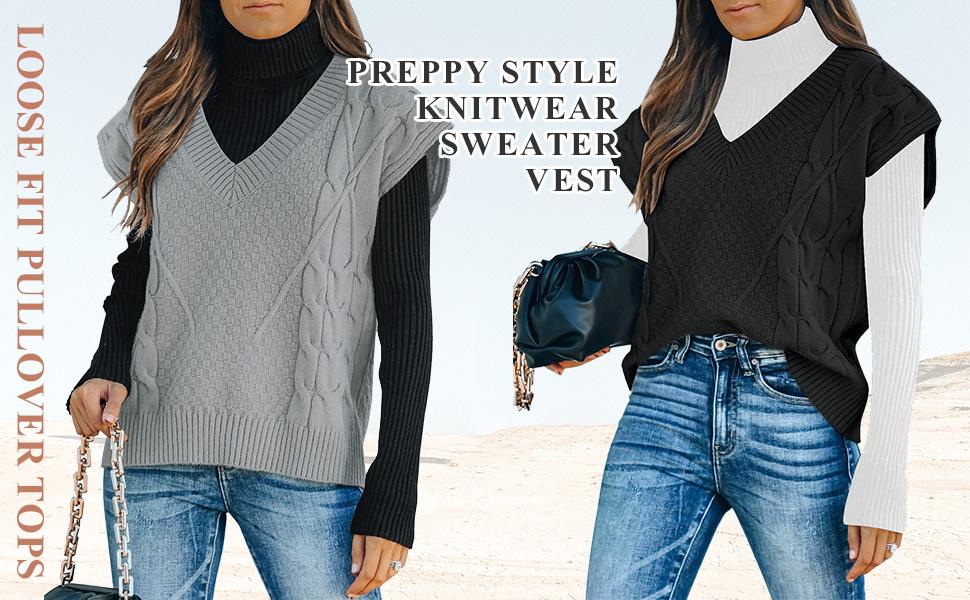 Preppy Style Knitwear Sweater Vest Tank Top