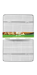 cooling rack baking rack stainless steel 10 inch 15 inch