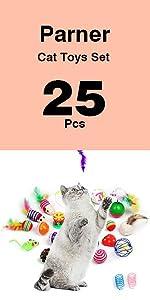 25Pcs cat Toys