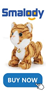 Electronic Plush Cat Pet, Touch Control(Yellow)