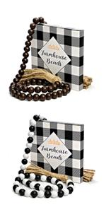 decorative beads farmhouse wood bead garland wooden decor beaded garlands for rustic house