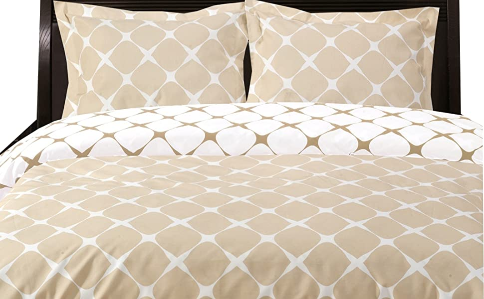 8pc pure cotton Bloomingdale bedding set with down alternative comforter