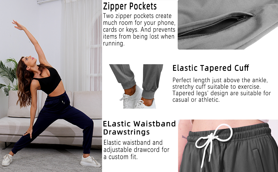 Women's Joggers Lightweight Quick Dry Hiking Pants Athletic
