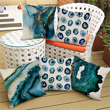 navy blue pillow covers 18 18