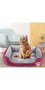 Cat Beds for Indoor Cats Dog Bed Comfy Fluffy Washable Calming Cat Beds Dog Bed for Small Dogs