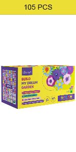 Limmys El Juguete para niñas pequeñas Build My Dream Garden de 105 Piezas