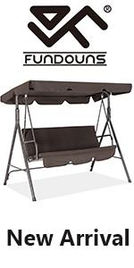 PORCH SWING CHAIR BROWN