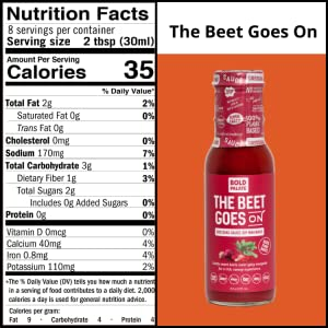 Beet Goes On Nutritional Info