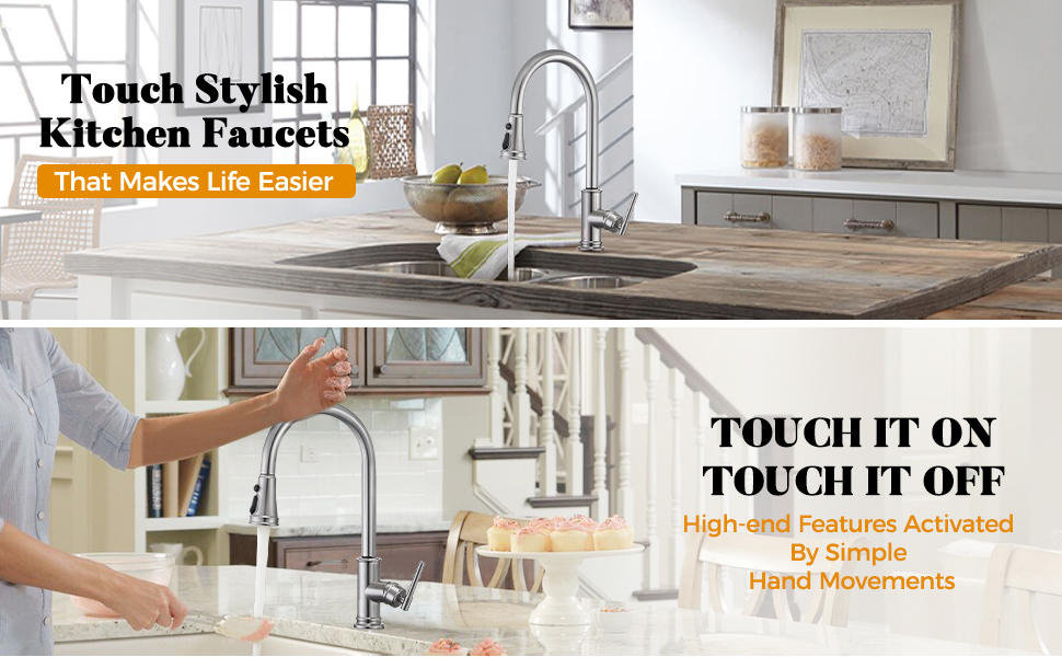 touch on activated kitchen faucet