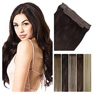 halo hair extensions real human hair seamless weft