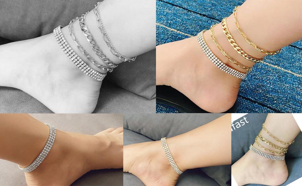 nanafast ankle bracelets for women tennis anklet