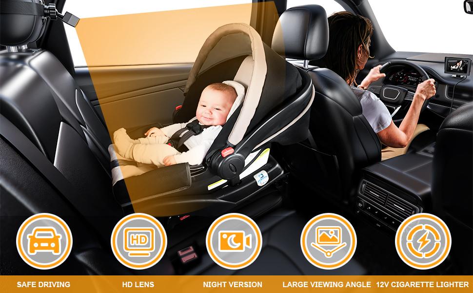 car camera for baby rear facing