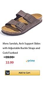 Mens Cork Sandals